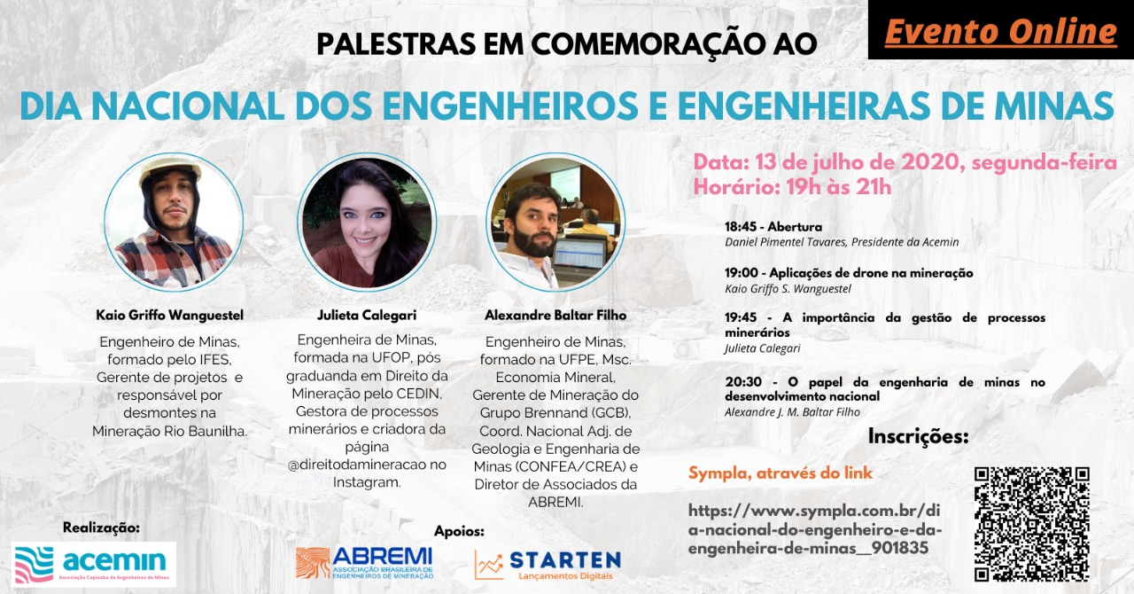 Evento comemorativo aos Engenheiros e Engenheiras de Minas